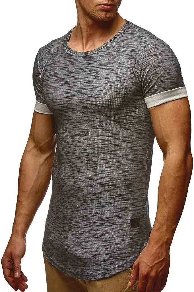 Leif Nelson Camiseta para Hombre con Cuello Redondo LN-6356