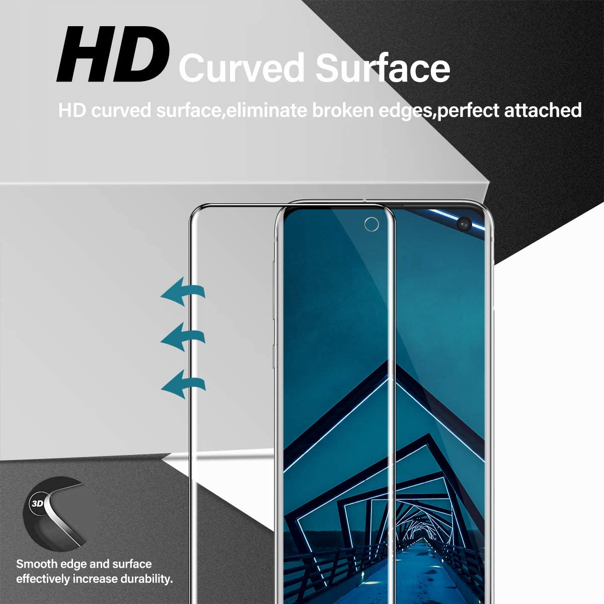Self Healing Anti-Bubble Clear HD Protective Film Camera Lens Screen Protector, Galaxy S10e Screen Protector 2 + 2 Pack Case Friendly Compatible Fingerprint