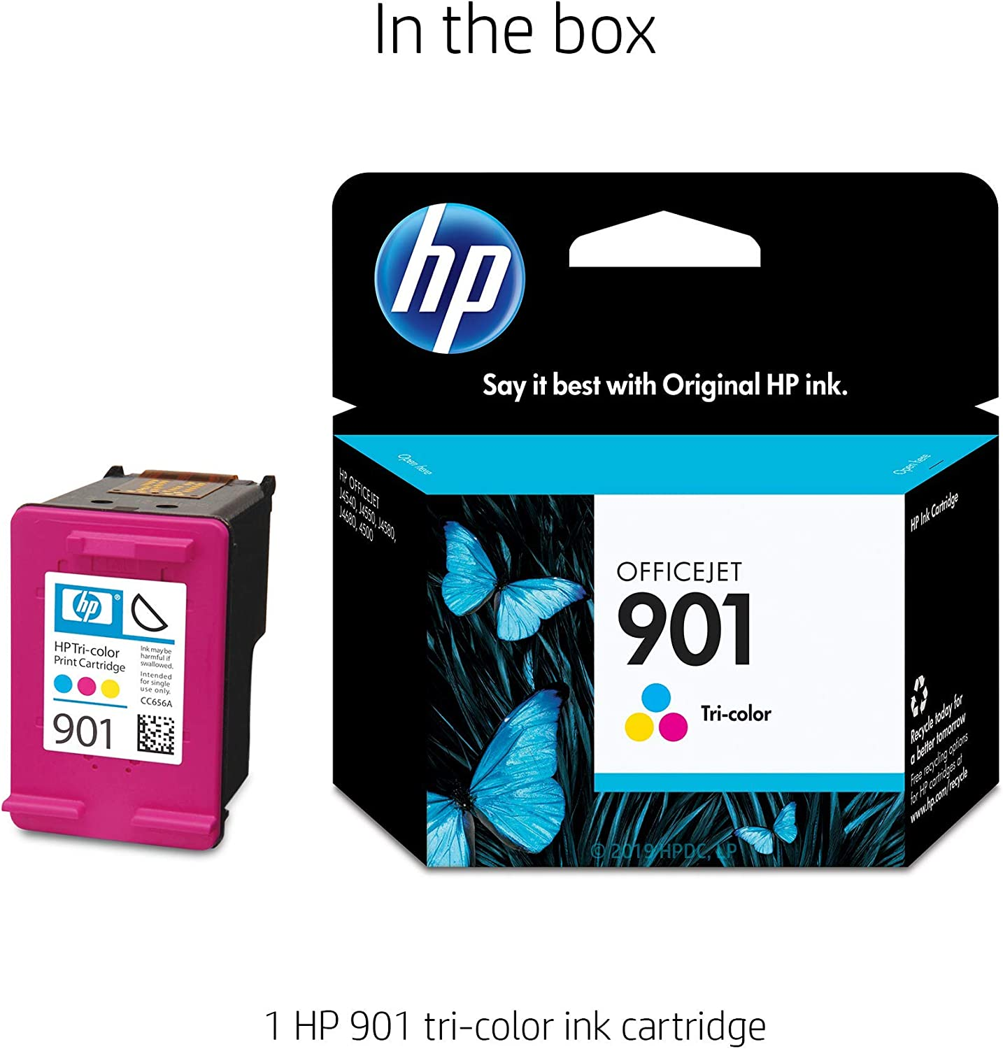 Amazon.com: HP 901- Cartucho de tinta tricolor original ...