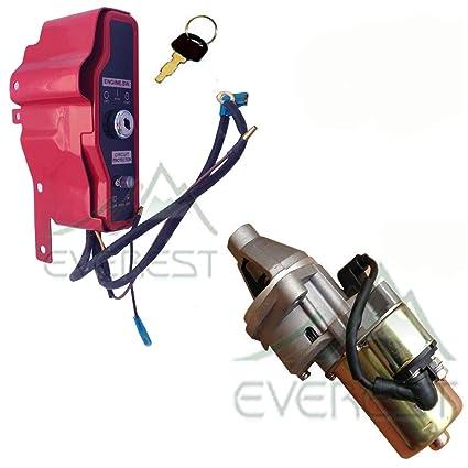 amazon com : everest brand ignition key switch control box & electric  starter motor fits honda gx160 gx200 : garden & outdoor