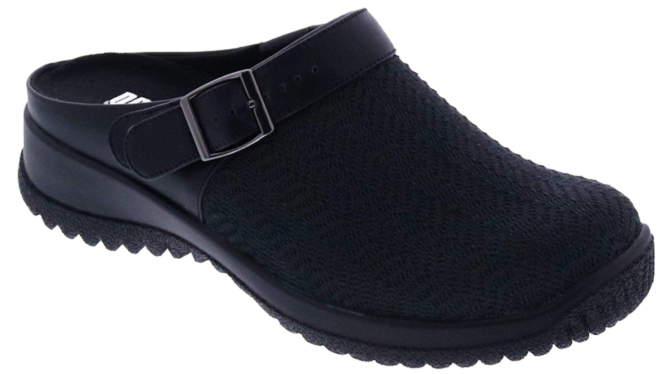 Drew Shoe Women's Savannah Comfort Casual Clogs, Black, Textile, 11 WW