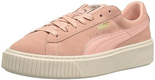 dfe190279d2af Puma Women's Suede Platform core Fashion Sneaker, Coral Cloud ...