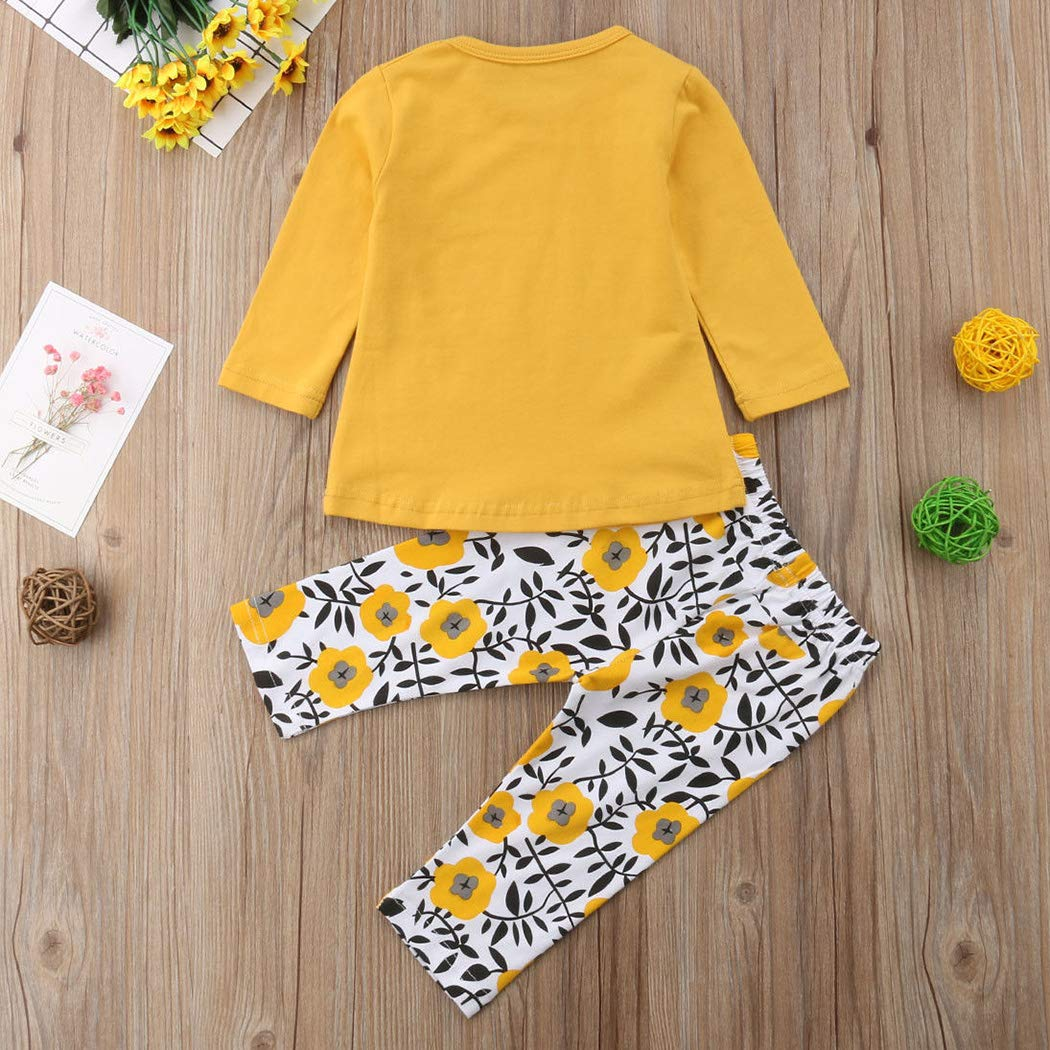 MIOIM 2pcs Baby Girl Outfits T-Shirt Pants Set Toddler Autumn Clothes Tracksuit