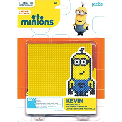 Perler Beads 80-62982 Minions Perler Kevin Activity Kit, Yellow: Arts, Crafts & Sewing