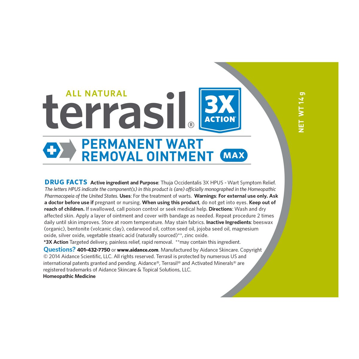 Permanent Wart Remover- for Genital & Facial Warts Maximum Strength Slow Safe Gentle Alternative for Sensitive Skin Dr Recommended Guaranteed All Natural Pain Free Salicylic Acid Free by Terrasil by Aidance Skincare & Topical Solutions (Image #1)