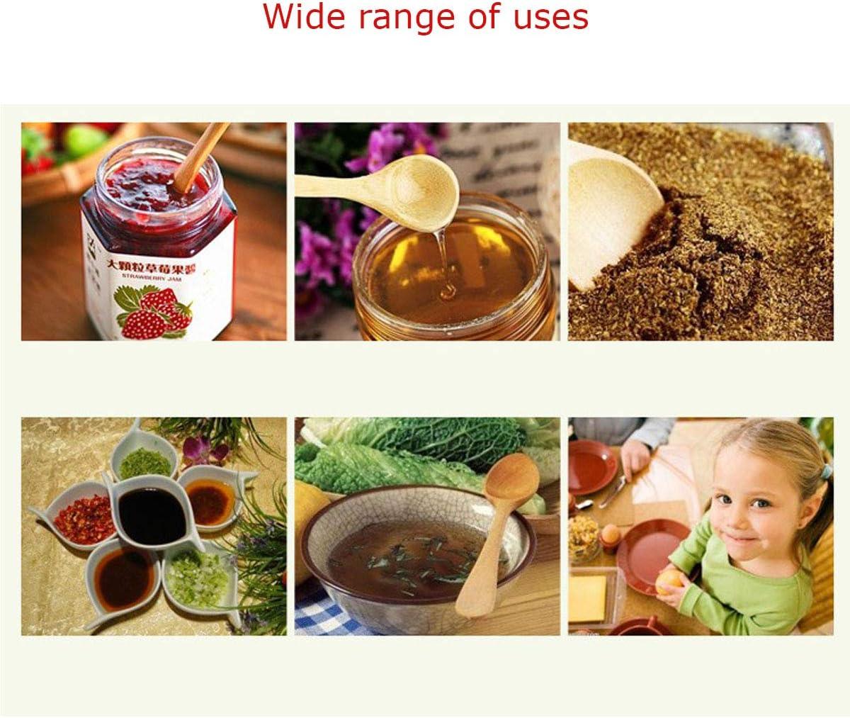 Tangger 30PCS Set Cucchiaio in Legno Naturale Piccolo,Cucchiai per Bambini Cucchiaio Sale da Bagno in Legno,Condimento Zucchero Miele caff/è t/è t/è Cucchiaio Condimento in Legno