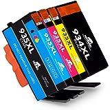 IKONG Compatibile Cartucce HP 934 XL 935 XL 934XL 935XL, Alto Rendimento, 5 Confezioni, Lavora con HP OfficeJet Pro 6830 6230 6835 6820 6812 6815 Stampante