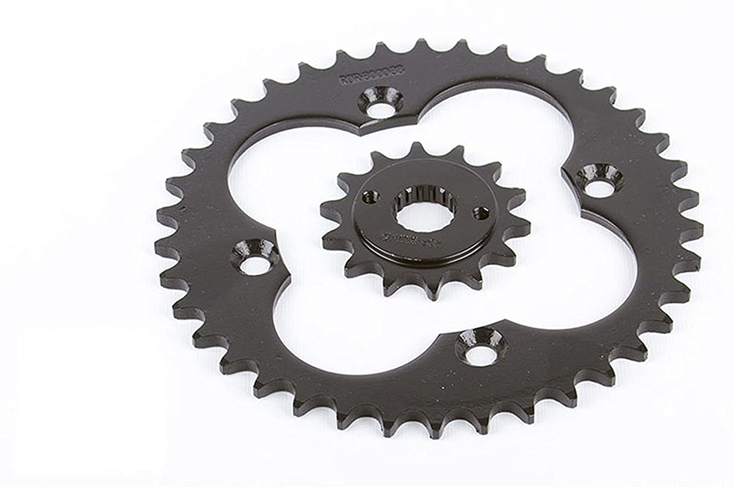 1999-2004 Honda TRX400EX 400EX 14 Tooth Front & 38 Tooth Rear Silver Sprocket Race-Driven