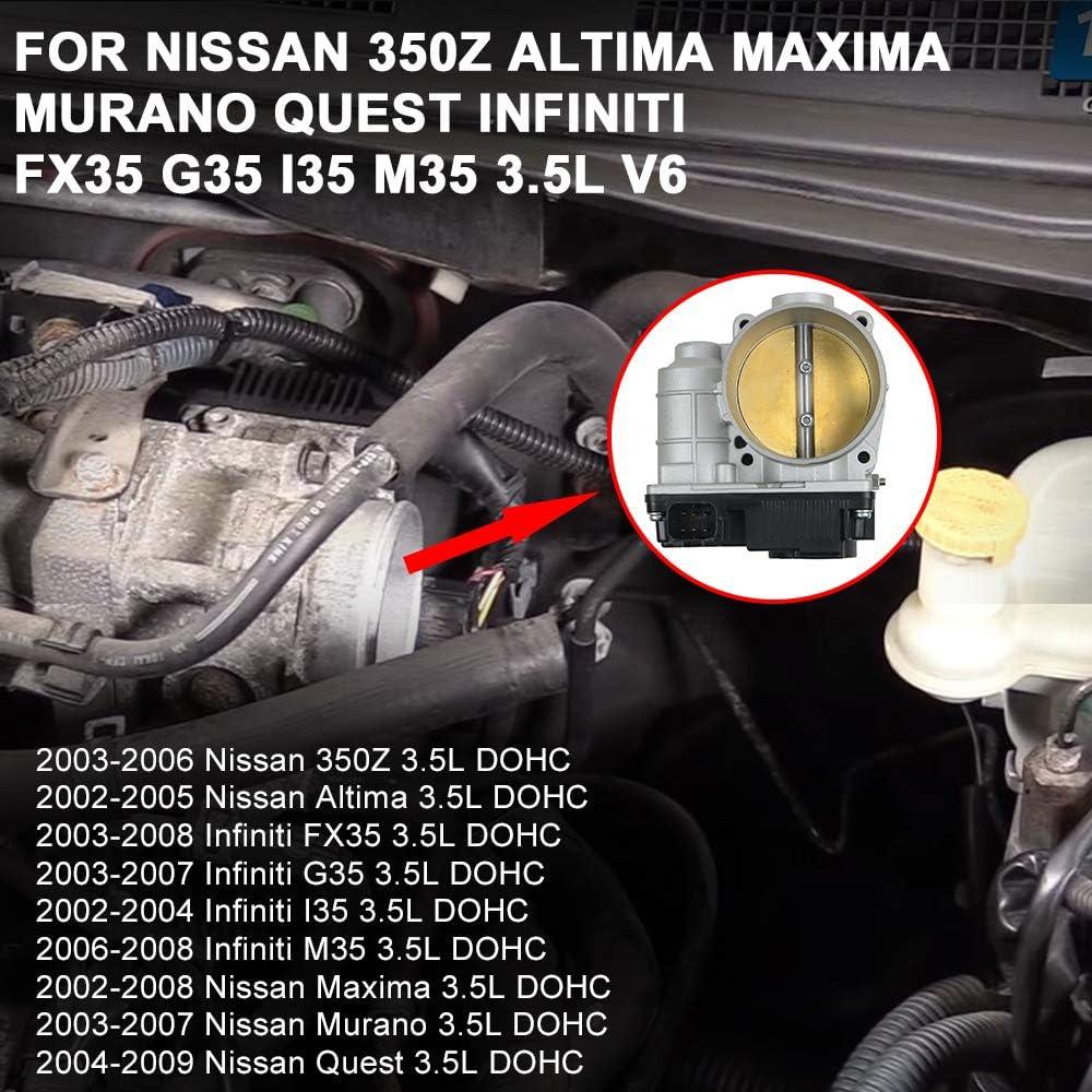S20058 Throttle Body For Nissan 350Z Altima Maxima Murano Quest Infiniti FX35 G35 I35 M35 3.5L V6 161198J103
