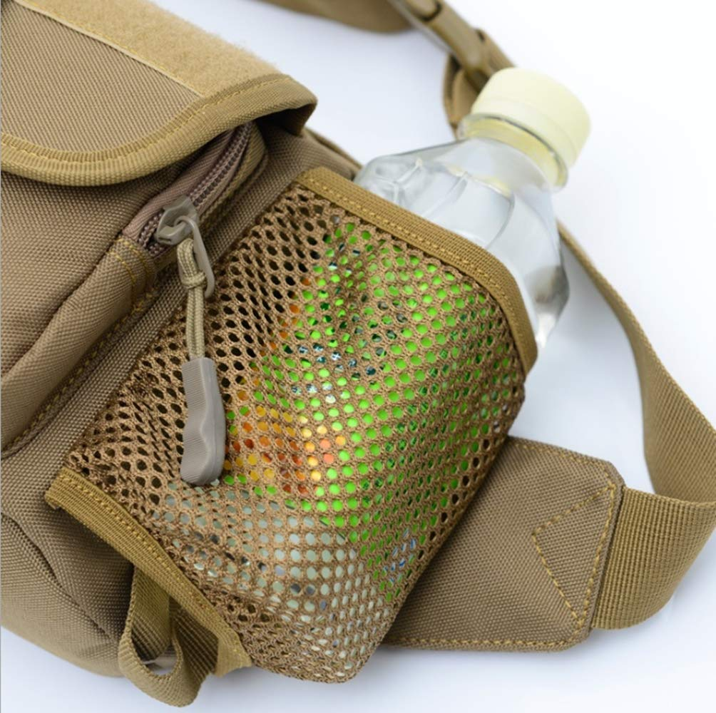 Outdoor Sports Backpack Can Be Loaded with Kettle Multi-Function Crossbody Bag Outdoor Travel Camping Hiking Running Waist Bag Tactical Waist Pack