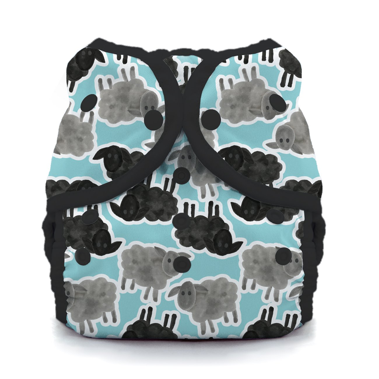 Thirsties TDWSCS2 Snap Duo Wrap Counting Sheep Size Two (18-40-pound) Diapers