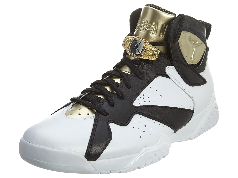 Weiß Metallic Gold-schwarz Nike Air Jordan 7 Retro