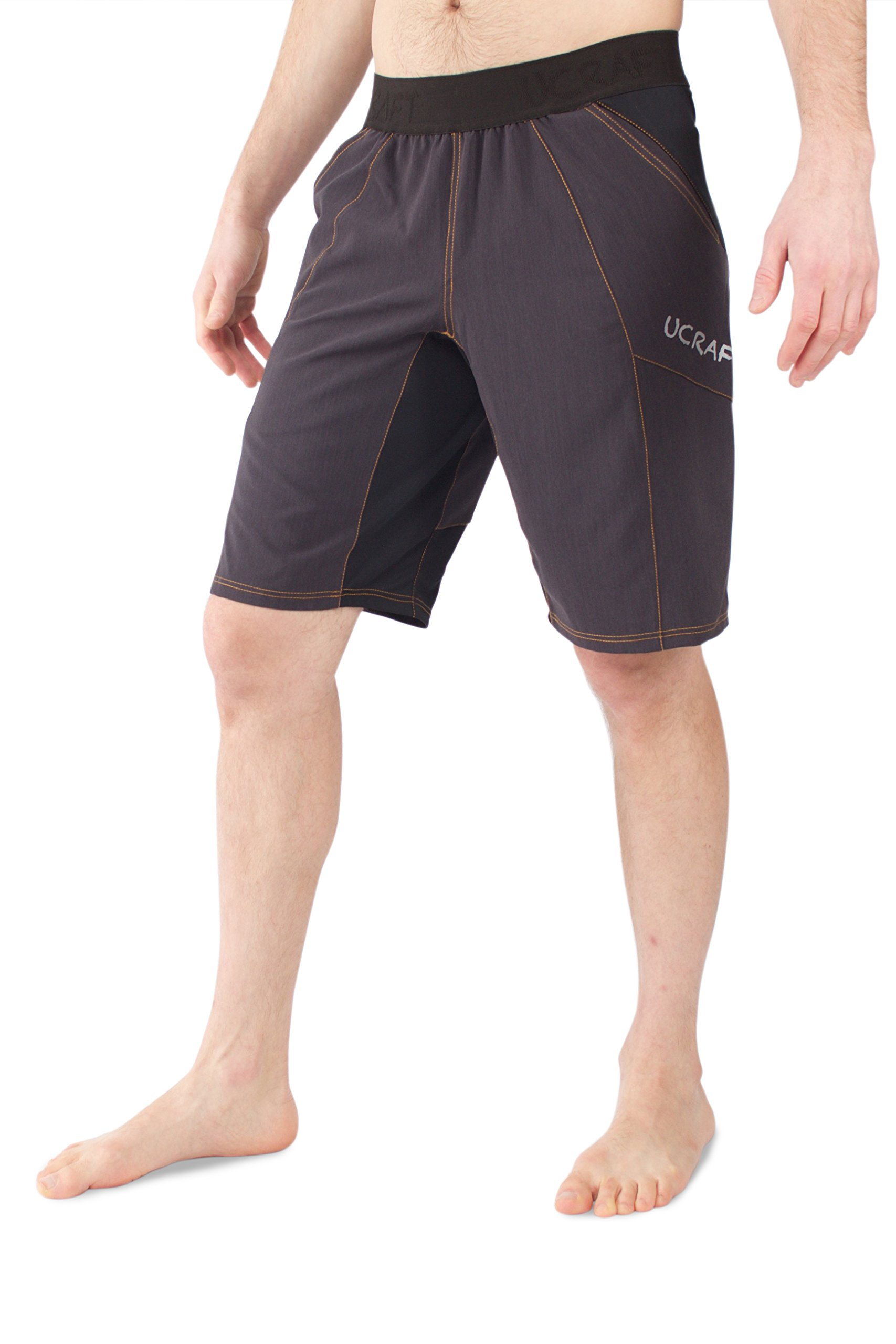 Ucraft Climbing Anti-Gravity Shorts. Stretchy, Lightweight and Breathable Multisport Shorts. (Graphite, L) by Ucraft