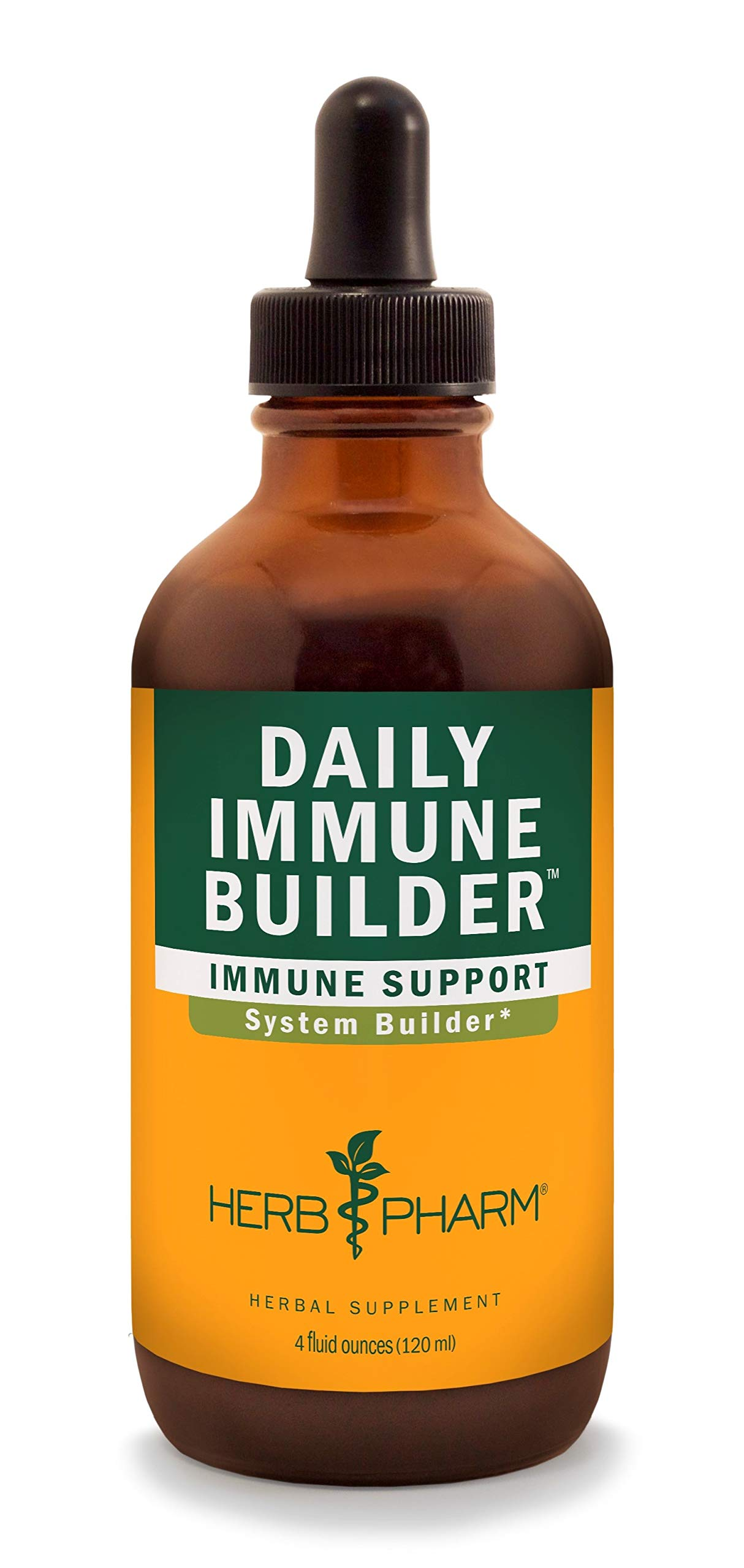 Herb Pharm Daily Immune Builder Herbal Immune System Defense Liquid - 4 Ounce