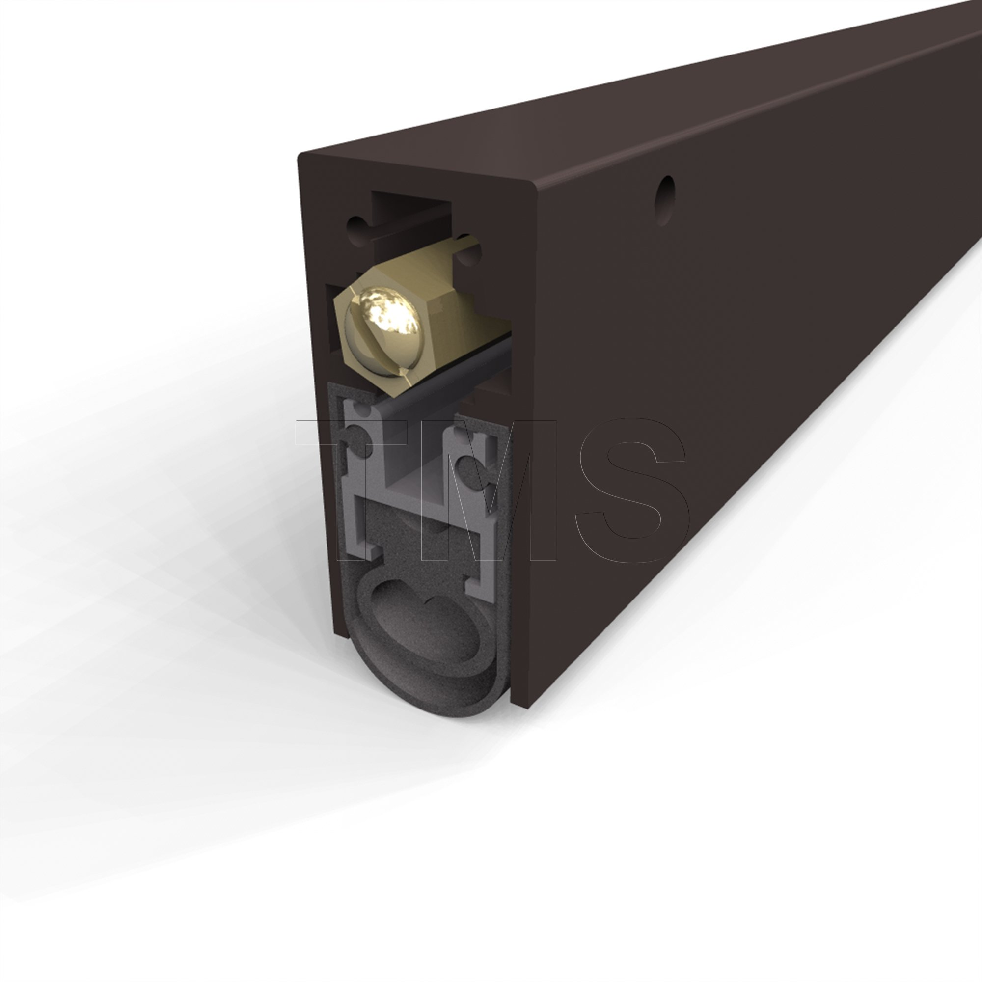 TMS Automatic Door Bottom / High Sound Heavy Duty / Surface Mounted / Dark Bronze Anodized / 36'' long by Trademark Soundproofing