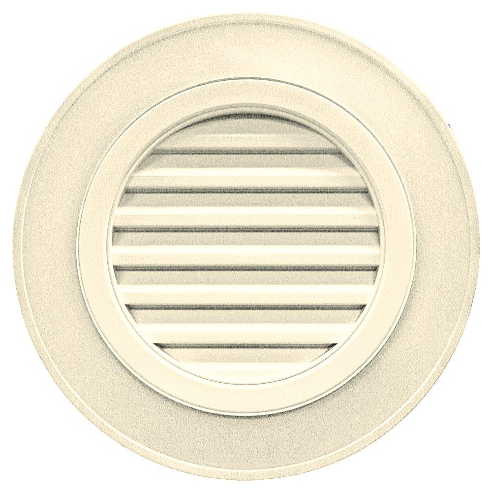Builders Edge 120032828020 28'' Round Vent Designer without Keystones 020, Heritage Cream