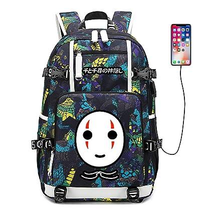 edae26b5e54c Amazon.com: Spirited Away Cartoon Travel Backpack Nylon Backpacks ...