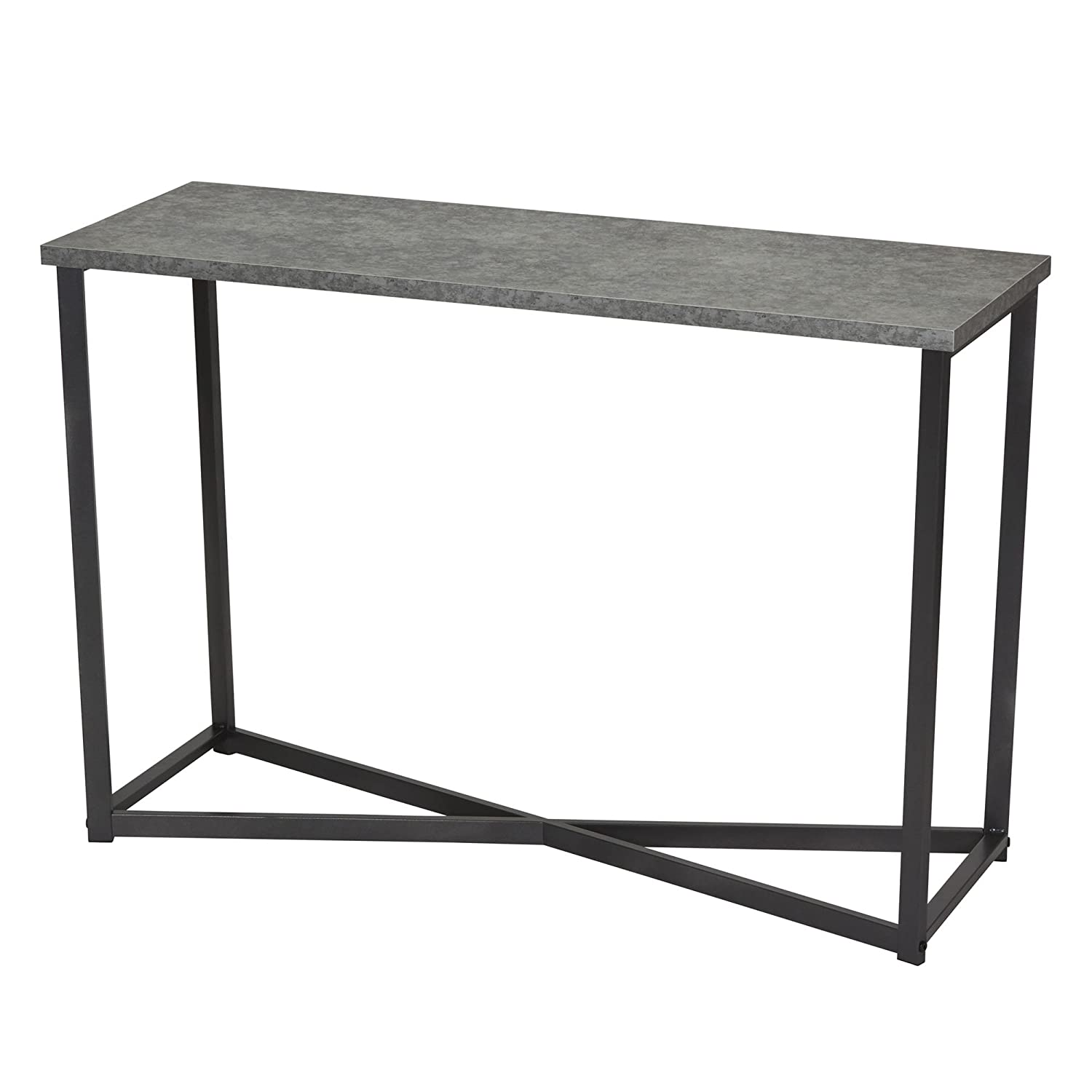 Amazon com household essentials 8091 1 slate faux concrete sofa table console table for entryway kitchen dining