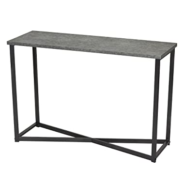 Household Essentials 8091-1 Slate Faux Concrete Sofa Table | Console Table for Entryway