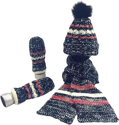 Women Lady Fashion Winter Warm Knitted Hat+Scarf Set Skullcaps Valentines Xmas Gift