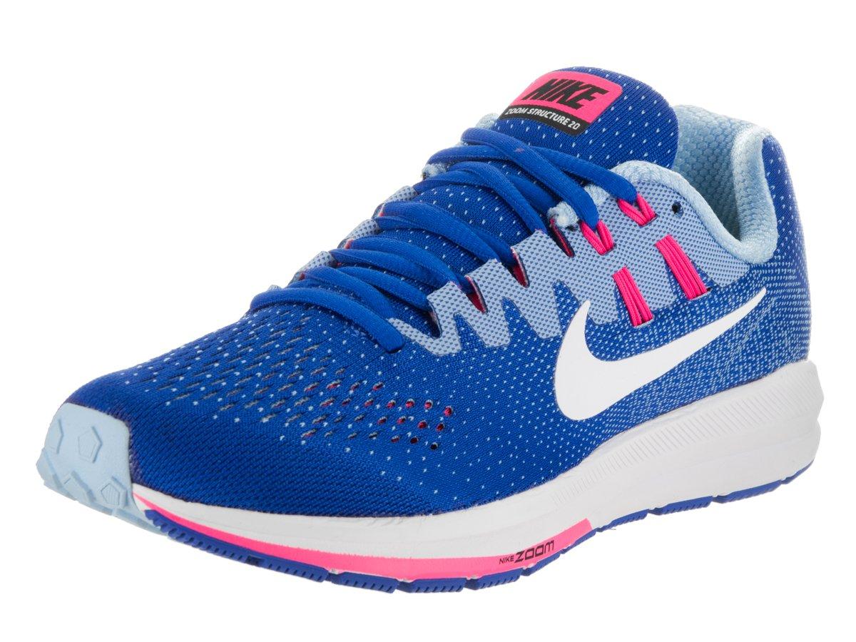 NIKE Womens Air Zoom Structure 20 Lightweight Fitness Running Shoes B005OEV0CY 37.5 M EU Hyper Cobalt/White Bluecap
