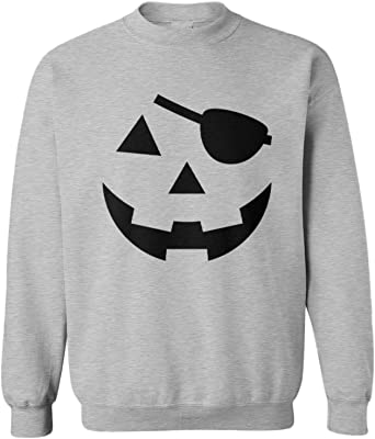 Pumpkin Face Jack-O-Lantern Halloween Crewneck Sweatshirt