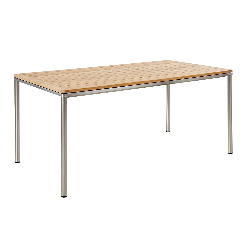 GARPA Portland Tisch Teak 165 x 90 Gestell Edelstahl