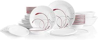 product image for Corelle Service for 12, Chip Resistant, Splendor Dinnerware Set, 78 Piece