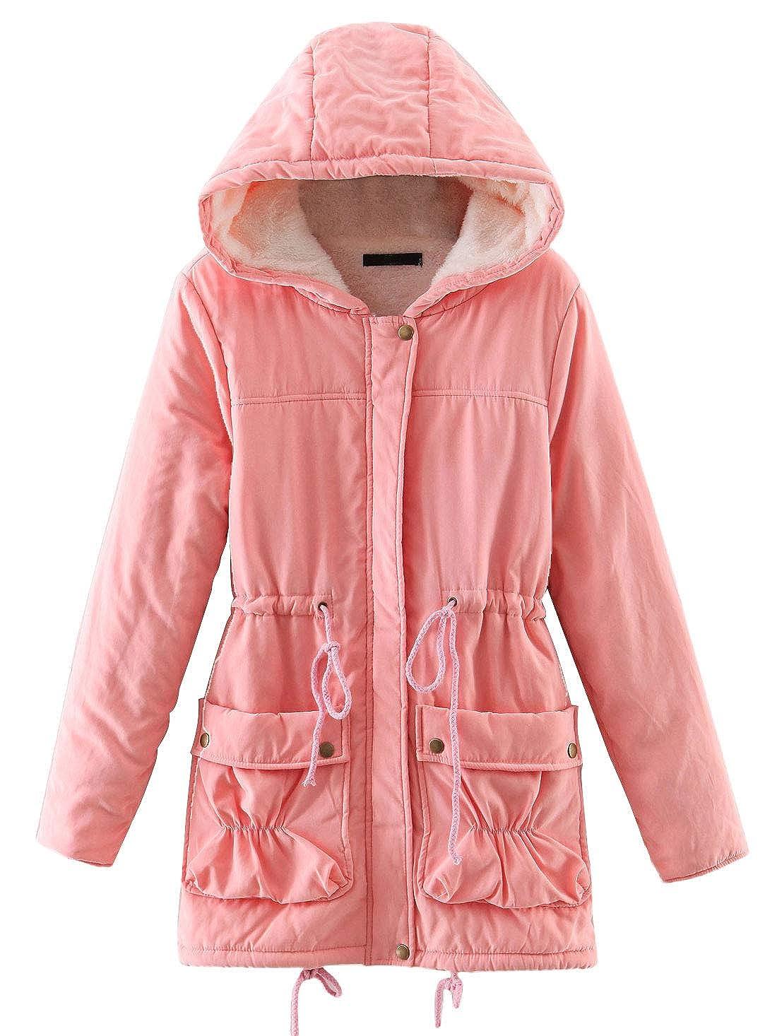 Amazon.com: Chartou - Abrigo largo con capucha para mujer ...