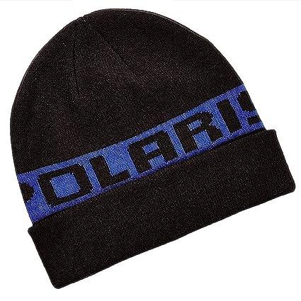 Polaris New Unisex Classic Cuff Beanie Winter Hat Universal Black Blue d01679c96eb