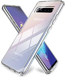 ProCase Galaxy S10 5G Case Clear, Slim Hybrid Crystal Clear Cover Protective Case for Galaxy S10 5G 6.7 Inch 2019 Release –Clear