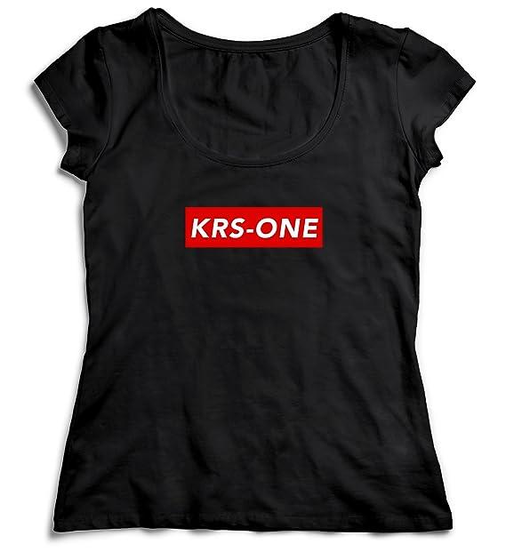 negozio online fb1e2 d3d6a KRS-One Supreme Nero Black Camicetta Camicia Top T-Shirt ...