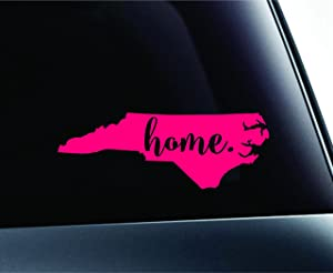 #3 Home North Carolina State Raleigh Symbol Sticker Decal Car Truck Window Computer Laptop (Pink)