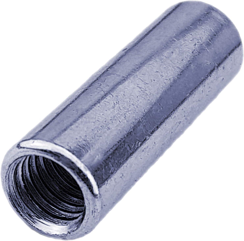 10 St/ück verzinkt QUALIT/ÄTS VERBINDUNGSMUTTER  Stahl M5 bis M24 WUNSCHGR/ÖSSE und ST/ÜCKZAHL mit Mengenrabatt einfach selbst ausw/ählen  M10 x L/änge 40mm | Rund