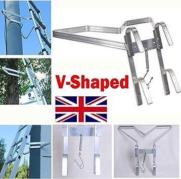 Escalera de aluminio en forma de V para escalera, con amortiguadores de goma de seguridad, escaleras universales.: Amazon.es: Bricolaje y herramientas