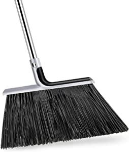 KeFanta Heavy-Duty Broom with 58'' Adjustable Broomstick, Indoor/Outdoor Angle Brooms Perfect for Home Kitchen Room Office Courtyard Garage Lobby Mall Market Floor Pet Hair Sweeping Etc.