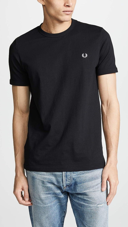 Fred Perry Ringer Camiseta Black