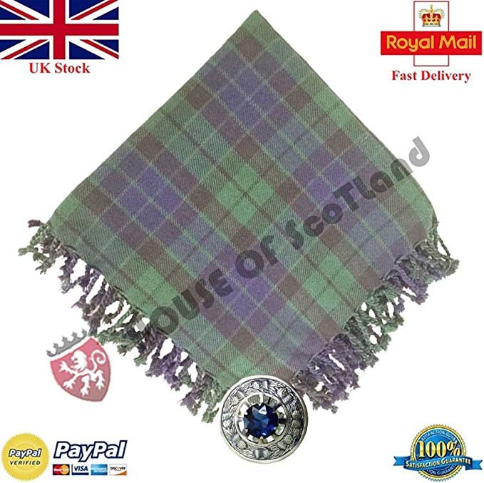 Tartan Scottish Purled Fringe Budget Piper Fly Plaid Kilt McKay Tartan