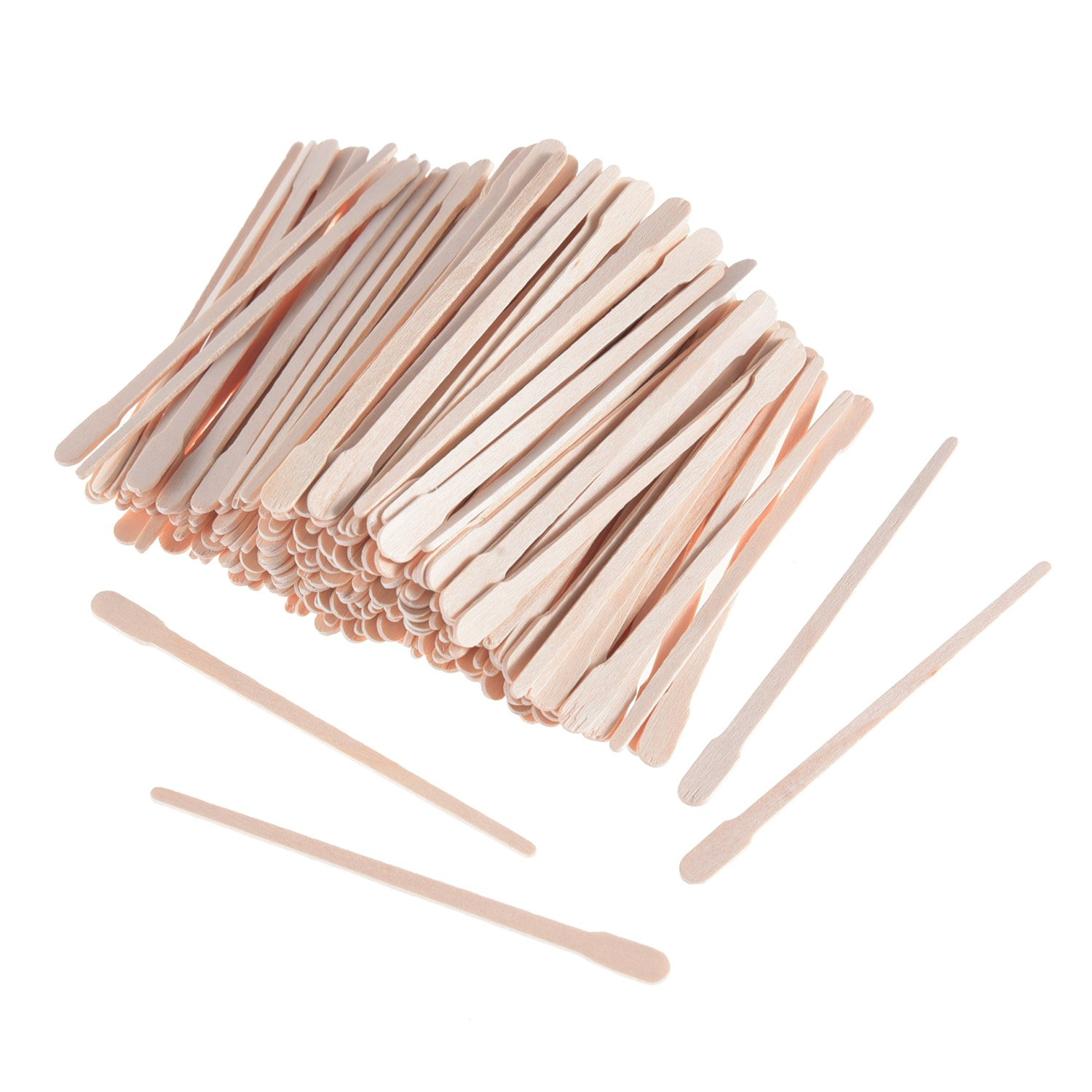 500 Pieces Eyebrow Wood Craft Sticks Waxing Applicator Sticks Body Wax Spatulas for Hair Removal Pangda