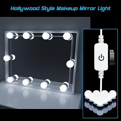 plug in vanity mirror lights. Hollywood Style LED Vanity Mirror Lights Kit  HogarTech Dimmable Light Bulbs Lighting Fixture Strip for