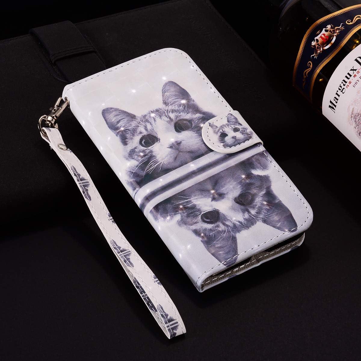 Surakey PU Leder H/ülle f/ür Huawei Mate 20 Lite Handyh/ülle Handytasche 3D Gemalt Muster Glitzer PU Tasche Schutzh/ülle Flip Case Brieftasche Etui Wallet Case St/änder Kartenf/ächer Blau Schmetterling