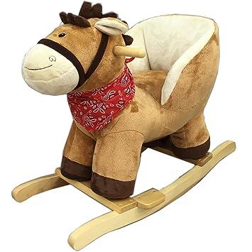 Cheval à bascule holzkufen métallique poney