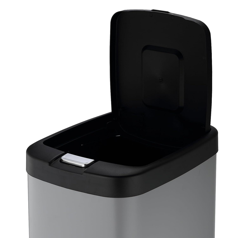 Harima Cubo Basura | Basura Cocina | Cubo Matt Gris de 38L | Cubo De Basura con Tapa Y Pedal para Levantar La Tapa Y Cubo Interno | 27 x 36 x 62 cm: ...
