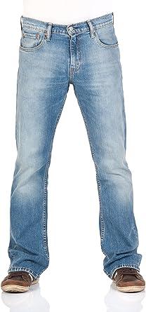 TALLA 31W / 32L. Levi's 527 Slim Boot Cut Vaqueros Corte de Bota para Hombre