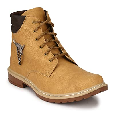 7ff39eb869a Oladin Mens Synthetic Leather Boots