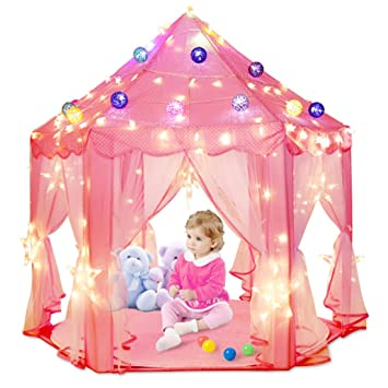 Indoor and Outdoor Hexagon Fairy Princess Castle Play Tent Playhouse Tents As Great Gift for  sc 1 st  Amazon UK & Indoor and Outdoor Hexagon Fairy Princess Castle Play Tent ...