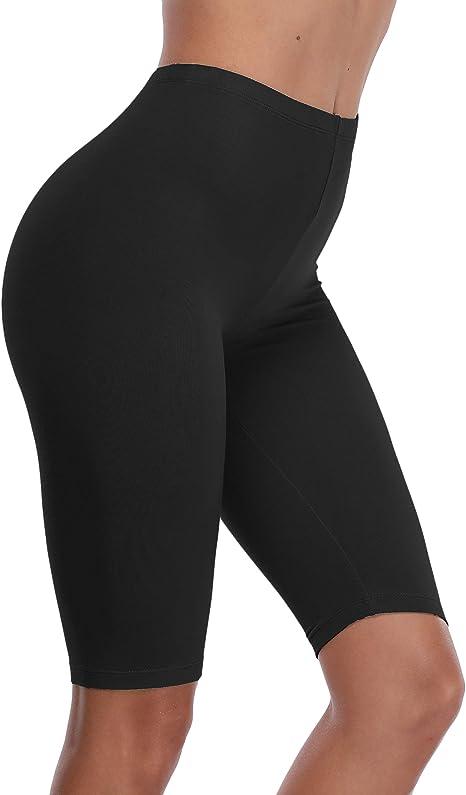 Women Plus Size Biker Stretch Cycling Leggings Yoga Shorts Mini Shorts Plus