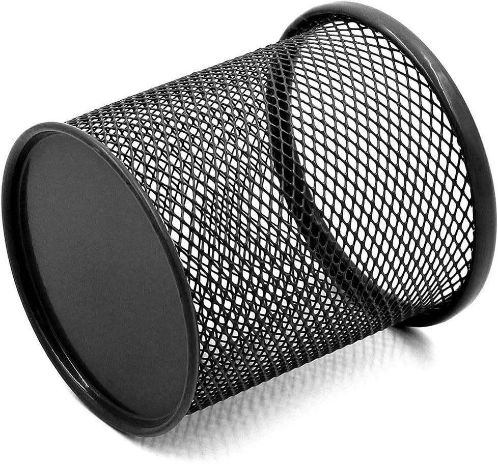 Toymytoy 4pcs filo di metallo portapenne rotondo portapenne studenti per ufficio nero