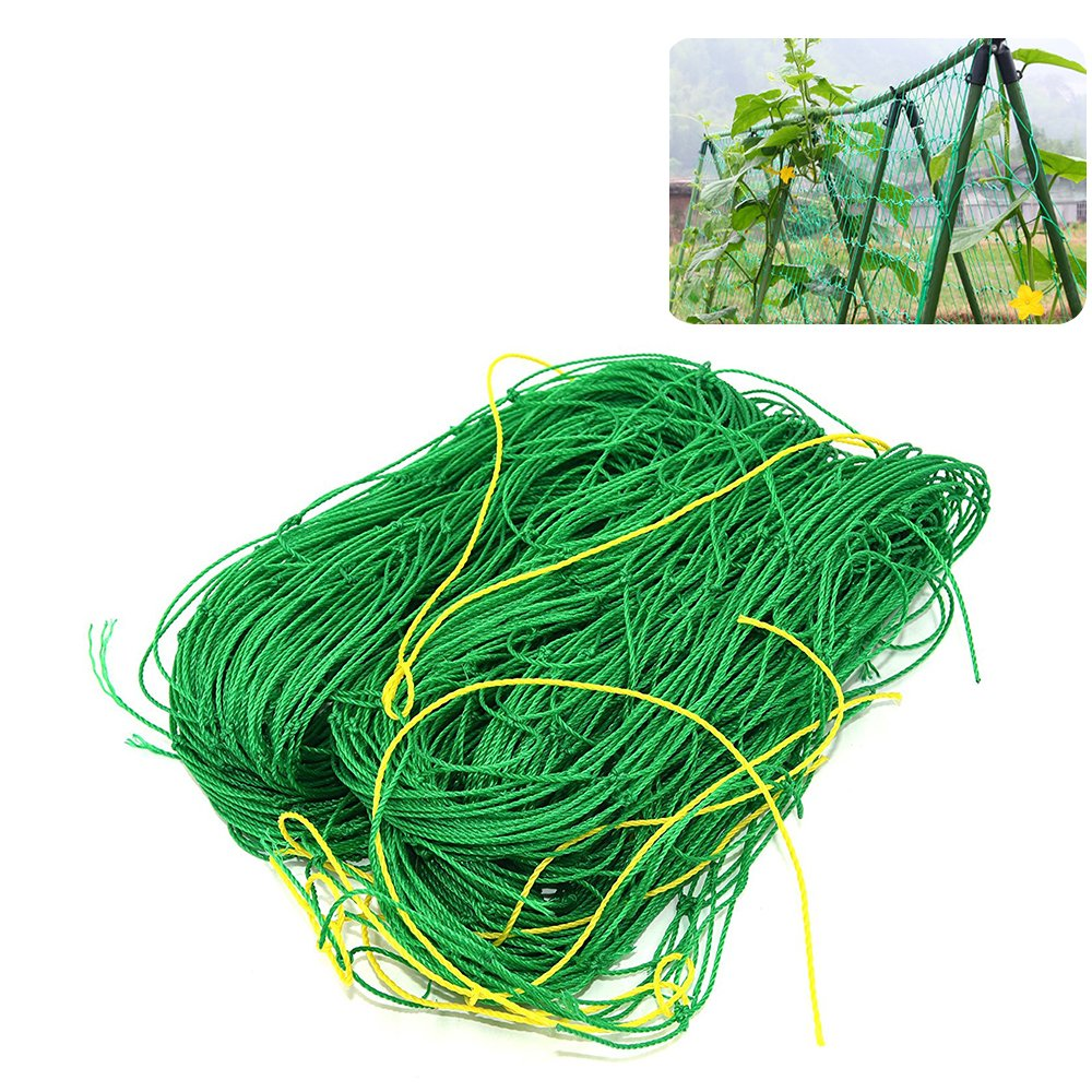 EFFT Life Nylon Trellis Netting Plant Support for Climbing Plants Vegetables and Fruitsm, Vine and Veggie Trellis Net Plant Climbing Net, 5.9Ft x 11.8Ft