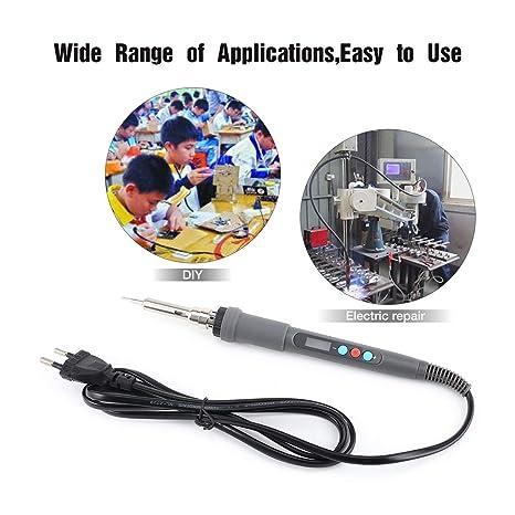 Dailyinshop Digtal Electronic Professional y Hobby Soldadura Soldadura de Temperatura Ajustable Mini Pluma de Soldadura eléctrica